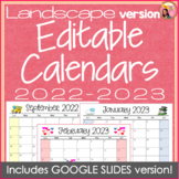 Landscape Editable Calendars 2018-2019 - July 2018 to December 2019