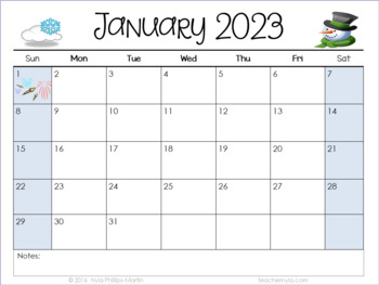 Landscape Editable Calendars 2018-2019 - July 2018 to ...