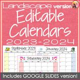Landscape Editable Calendars 2019-2020 - Jan 2019 to December 2020