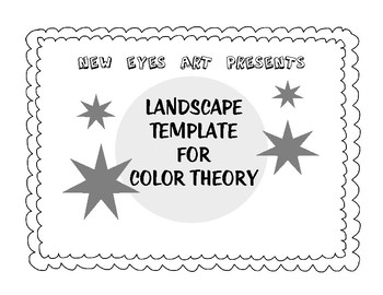 Landscape Template for Color Theory Practice and Perspective