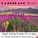 Landscape Scenes Writing Prompts Unit Interactive Whiteboard