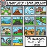 Landscapes + Backgrounds Clip Art • SpeakEazySLP