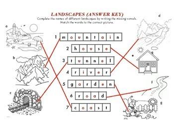 Landscapes - Worksheet for Kindergarten-2nd Grade