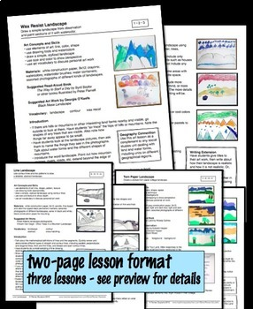 Art Lesson Bundle Three Landscapes Geography Integrated