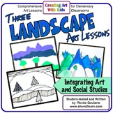 Art Lessons Three Landscapes Geography Integrated