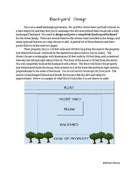 Landscaping Project: Area, Surface Area, and Volume