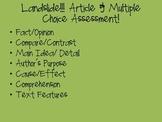 Landslide Article & Assessment: State Assessment Preparation