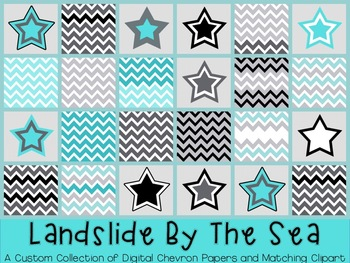 FREE Chevron paper and star graphics {TPT Sellers} Commercial and Personal Use