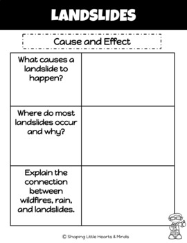 Landslides, Earthquakes & Volcanoes- Interactive Science Notebook BUNDLE