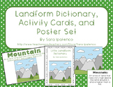 Landform Poster, Dictionary, and Activty Card Bundle
