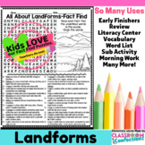 Landforms Activity: Landforms Word Search (non-fiction, reading)