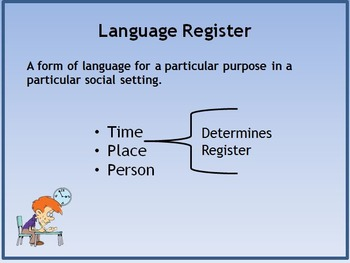 Language Registers and Writing