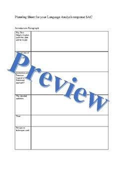 Langauge Analysis Response template