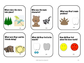 Language Through Literacy Unit based on Karma Wilson's Bear's Loose Tooth