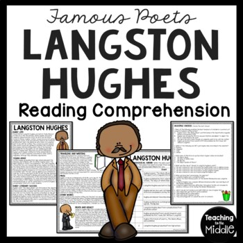 Langston Hughes Biography Reading Comprehension Worksheet, Harlem Renaissance