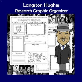 Langston Hughes Biography Research Graphic Organizer