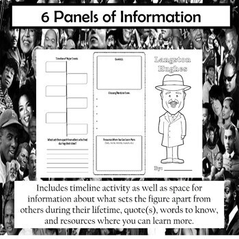 Langston Hughes Biography Trifold Brochure
