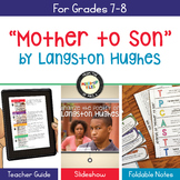 Langston Hughes Mother to Son Poetry Analysis