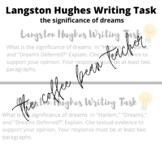 Langston Hughes Dreams Writing Task