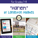 Langston Hughes Harlem Poetry Analysis