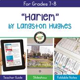 Langston Hughes Harlem Poetry Analysis