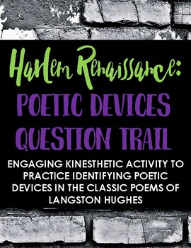 Langston Hughes + Harlem Renaissance Poetry Question Trail - Engaging Activity!