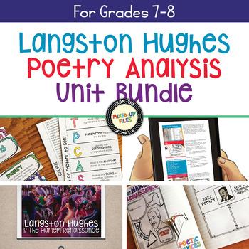 Langston Hughes Harlem Renaissance Poetry Analysis Unit Bundle