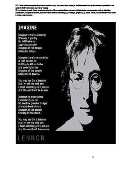 Langston Hughes 'I Dream a World' &John's Lennon's 'Imagine' Comparison/Contrast