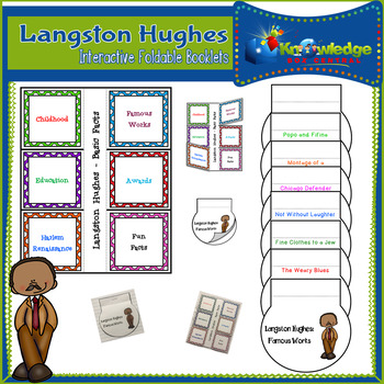 Langston Hughes Interactive Foldable Booklets - Black History Month