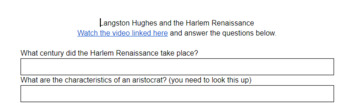 Langston Hughes - John Green Crash Course to Lit - Video Comprehension Questions