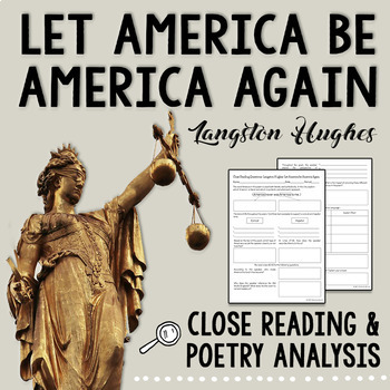 Langston Hughes - Let America Be America Again - Poetry Analysis and Close Read