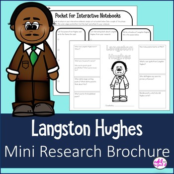 Langston Hughes Author Study Research Biography Brochure Interactive Notebook