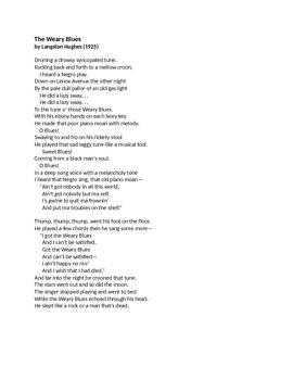 Langston Hughes Poem Collection