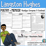 Langston Hughes Poem + Memoir Analysis and Compare & Contrast Activity