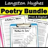 Langston Hughes Poem Activity Pack