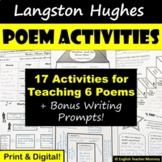 Langston Hughes Poem Activity Pack