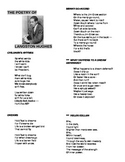 Langston Hughes Poetry and Study Guide