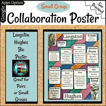 Langston Hughes Poetry Collaboration Group or Individual Poster