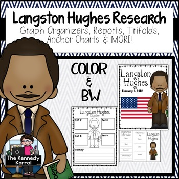 Langston Hughes Biography Research Bundle {Report, Trifold, & MORE!}