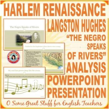 "Black History Langston Hughes ""The Negroe Speaks of Rivers"" Power-Point"