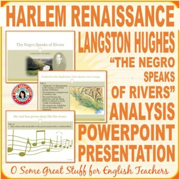 "Langston Hughes ""The Negroe Speaks of Rivers"" Power-Point-Harlem Renaissance"