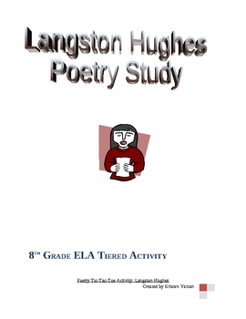 Langston Hughes Tiered Poetry Activity