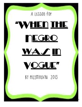 """When the Negro Was in Vogue"" by Langston Hughes"