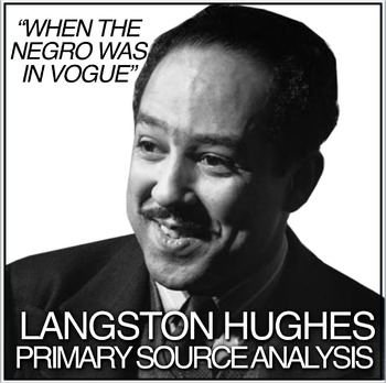 Langston Hughes primary source document analysis