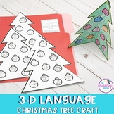 Language 3-D Christmas Tree Craft