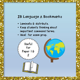 Bookmarks: Language A Command Terms (IB)