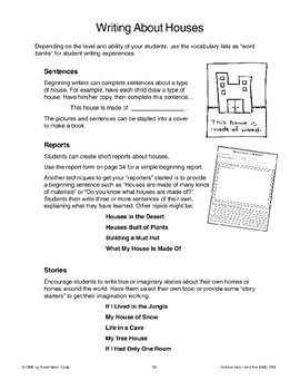 Language Activities About Houses