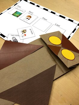 Owl Moon Language Activities Adapted for speech therapy or special ed