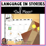 Language Activities Adapted for Owl Moon for speech therap