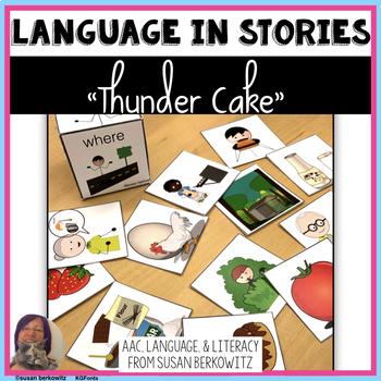 Thunder Cake Language Activities Speech Therapy